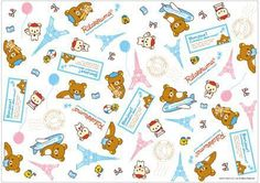 Free Printable Rilakkuma Paris Themed Wrapping Paper