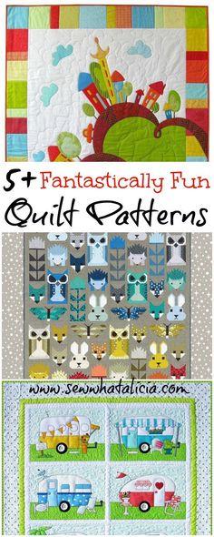 5 Fantastically Fun Quilt Patterns | www.sewwhatalicia.com