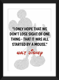 Framed Walt Disney Quote, Mickey Mouse Print, 30cm x 40cm Typography Art Print Ideal for gift by TheWordAssociation on Etsy