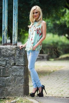 Jeans Arranged Rows Blue Product Label, The Row, Bell Bottom Jeans, Style Me, Turquoise, Skinny, Legs, Blouse, Casual