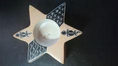 6,50€ Portavelas beig de estrella 8x9cm