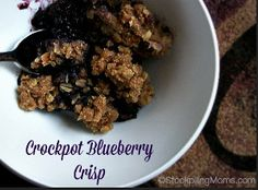 "This Blueberry Yum Yum is the ultimate fruit crisp recipe for those who love blueberries! When you take a bite, you're sure to exclaim, ""Yum, yum!"" This easy beery crisp only takes 10 minutes to prepare and then cooks a few hours in your slow cooker."