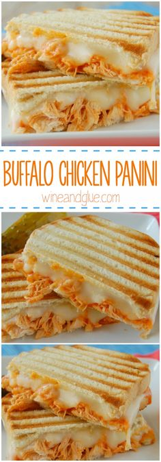 Buffalo Chicken Panini - A delicious and simple sandwich you won't be able to get enough of! Eric loves making paninis lol Think Food, I Love Food, Good Food, Yummy Food, Tasty Snacks, Lunch Recipes, Cooking Recipes, Recipes Dinner, Wrap Recipes