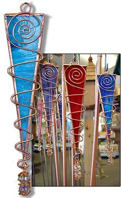 stained glass cardinal patterns | mystic - garden stake