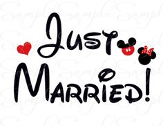 Just Got Married Mickey Minnie Disney Printable by DISPrintables, $5.00