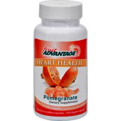 Fruit Advantage Heart Health Pomegranate - 60 Vegetarian Capsules - Fruit Advantage Heart Health Pomegranate Description: Maintaining a healthy heart and healthy cholesterol levels are vital to feeling great! Now its simple and hassle-free to get the antioxidants from the pomegranate on a daily basis. Say hello to Fruit Advantage Pomegranate. One easy-to-swallow capsule delivers a uniquely balanced blend of the pomegranate and the pomegranate seed for the whole fruit benefit. The pomegranate…