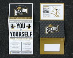 A self-mailer unfolds into a poster for the gym. Copies were sent to potential members and hung in local businesses.