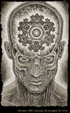 One of my favorite artists, Alex Grey, and it was drawn the year i was born. I really wanna get his third eye mandala on my back