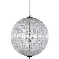 "Olivia 36"" Crystal Pendant Chandelier with 8 Lights"