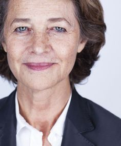 Charlotte Rampling. So much poise and self-awareness. Also, good freckles.