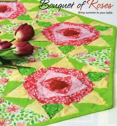 Bouquet Of Roses Quilt Pattern Pieced/Paper Pieced BM