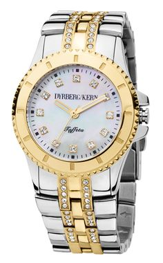 Dyrberg/Kern ur i guld/sølv med perlemor skive - Dyrberg/Kern Taffeta SMC 1G5