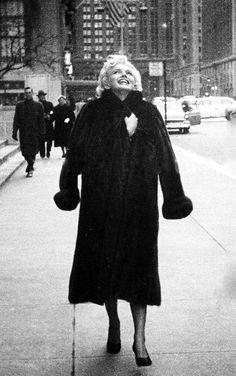 Marilyn Monroe in New York City, 1955