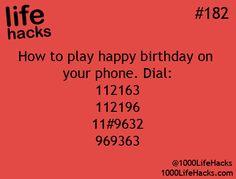 Happy birthday on your phone! Life Hacks