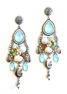 3288 - Brincos Mermaid - Antonietta Bijuterias e acessórios acessórios, mix de pulseiras, moda sereia, pulseira buzios, pulseirismo sereia ,bijuterias finas atacado, pulseirismo boho, bijoux com buzios, pulseiras atacado