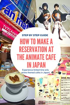 Want to experience an anime-themed cafe in Japan? This is a step by step guide on how to make an online reservation at the Animate Cafe in Japan #anime #animate #animatecafe #animatecafejapan #akihabara