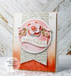 Card by Joni Andaya. Reverse Confetti Stamps: Petals & Posies and Beautiful Banners. Confetti Cuts: Petals & Posies and Beautiful Banners. Sketch For You To Try #13. Birthday Card. Friendship Card. Ombre card.