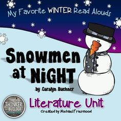 Enjoy seven literacy lessons and activities to go along with one of my favorite winter read-alouds: the picture book, Snowmen at Night, by Caralyn Buehner. This unit includes detailed lesson plans, printable activity sheets, templates, answer keys, and examples. From Michael Friermood, The Thinker Builder