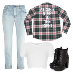 """2✨R-->☀️"" by forevera-dreamer ❤ liked on Polyvore featuring Proenza Schouler, Topshop, simple, peterpan, plaid and flannel"