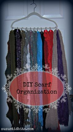 Scarf Organization: DIY for Free or Nearly Free! | Zuzu's Tidbits
