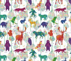 Tree Whisper fabric by jackiehaltom on Spoonflower - custom fabric