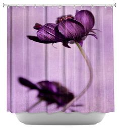 Purple Blossoms Shower Curtain - contemporary - Shower Curtains - DiaNoche Designs