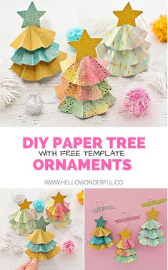 DIY Paper Tree Ornam