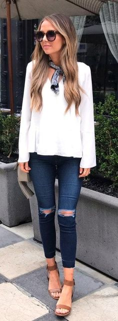 Basic Summer Outfits 32 Cool Summer Outfits, Fall Winter Outfits, Cool Outfits, Casual Outfits, Fashion Outfits, Fashion Trends, Jean Outfits, Summer Clothes, Teen Fashion
