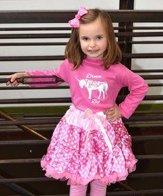 Look at this #zulilyfind! Pink 'Dream Big' Tee & Pink Pettiskirt - Toddler & Girls #zulilyfinds