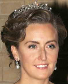 Tiara Mania: Pearl & Diamond Tiara worn by Princess Claire of Belgium