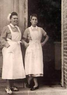 WWII German Red Cross Nurses. I love the playfulness of the gal sticking her tongue out at the camera. Probly was thinking of Hitler.