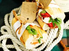 Gourmet sandwiches worthy of any picnic, these are two very different ...