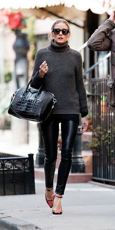 leather, knit, croco