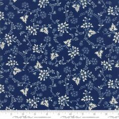 United Notions - Moda-Christopher Wilson Tate Regency English Quality Cotton by the Yard or Yardage Aboriginal Patterns, Christopher Wilson, Thing 1, Blue Fabric, Cotton Fabric, Blue Leaves, Fabric Strips, Regency, 18th Century
