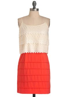 love the top of this! and the orange color on the bottom