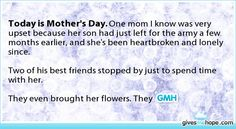 Today is Mother's Day.
