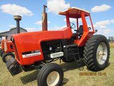 156hp Allis Chalmers 7050.When the 7050 was introduced in 1973 it was the 2nd most powerful row crop tractor on the market