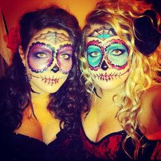 Day of the dead Halloween costumes 2012 :D  We were inspired by Pinterest!! :)