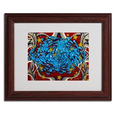 'Water Drips' by Miguel Paredes Framed Graphic Art