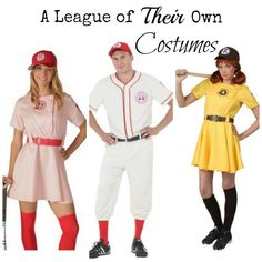 A League of Their Own Halloween Costume page full of ideas for all your favorite characters. Dottie, Kit, All the Way Mae, Doris and more.. #HalloweenCostumes