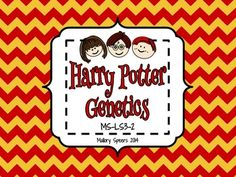 The NIH has a great unit on genetics using characters from Harry Potter.  I wanted the practice pages to be more like guided notes so I made a few formatting changes.  The entire unit is available for download at:  http://www.nlm.nih.gov/exhibition/harrypottersworld/education/lessonplans/science.html  During the lesson, students had the genetics terms matching activity on their tables so they could add to their graphic organizer.  (The matching activity is available for free in my store)…