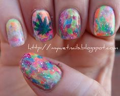 psychedelic nail art | My Wet Nails: PCF Summer Challenge: Hippie/Retro/Summer of Love