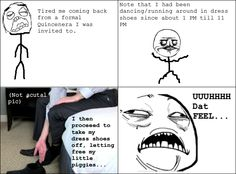 Rage Comics: The BEST feeling in the world when wearing a suit after a long day