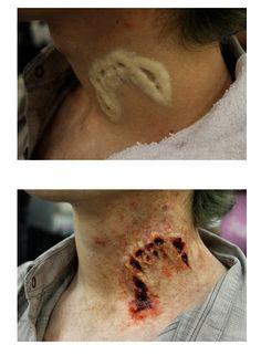 werewolf bite mark fx make up (bc Halloween is coming upon us👀👀) Movie Makeup, Scary Makeup, Sfx Makeup, Costume Makeup, Makeup Art, Eyebrow Makeup, Makeup Tips, Face Makeup, Cosplay Make-up