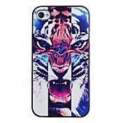 Fierce Tiger Pattern PC Hard Case med sort ra... – DKK kr. 19