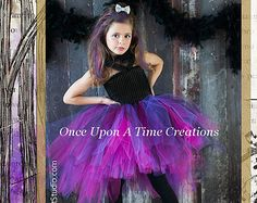 Raven Queen Tutu Dress - Ever After High Inspired - Birthday Outfit, Photo Prop, Halloween Costume - Girls Size 2T 3T 4T 5 6 7 8 10 12