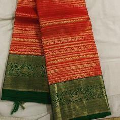 Saree Designs Party Wear, Wedding Saree Blouse Designs, Saree Blouse Neck Designs, Wedding Sarees, Kanjivaram Sarees Silk, Kanchipuram Saree, Latest Silk Sarees, Wedding Saree Collection, Bridal Silk Saree