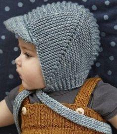 Шапочка для мальчика (Вязание спицами)