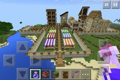 Half done Minecraft village, a mixture of medieval and modern type village, as I said it unfortunately aren't finish until next year. Because I'm building by myself and I need to add more farm, community building, townhall, mayor house, etc. so for now this is only a teaser image.