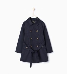 ZARA - KIDS - Trench coat with belt